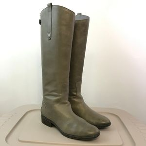 Sam Edelman Grey Frost Penny Leather Riding Boot 8